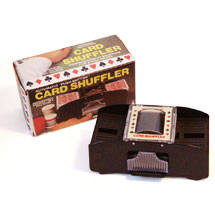 Automatic Card Shuffler 2 Deck, This 1 or 2 deck automatic card shuffler is a great gift for the card player who thinks they have everything.
