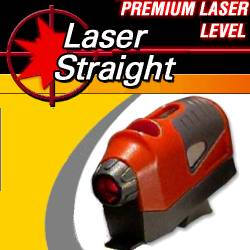 Laser Straight Laser Level, $18.95, Now the new Laser Straight advanced technology laser level will make wall hangings laser straight every time! Laser Straight adheres to any surface, won't leave marks, and is hands free so you can put anything up perfectly straight without any worries