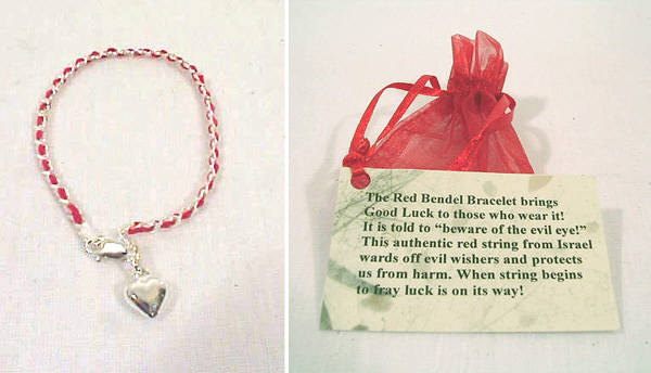 The original Red String Bracelet from Jerusalem.