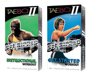 Taebo 2 Get Ripped Instruction, $21.95, They'll sweat like never before as TAEBO 2 motivates and guides followers through the ultimate total body workout