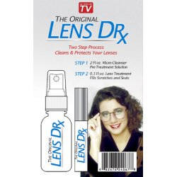 The Original Lens Doctor, Lens Dr. is a polymer-based formulation which assists in repairing surface scratches and cloudiness on eyeglasses.