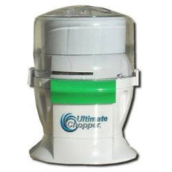 Ultimate Chopper in Mail Order Box, Tired of dragging out a bulky food processor and guessing which attachment is the right one for the job?The compact Ultimate Chopper is 4 machines in 1 so you can replace your food processor, coffee grinder, standing mixer and ice cream maker while gaining counter space in your kitchen.