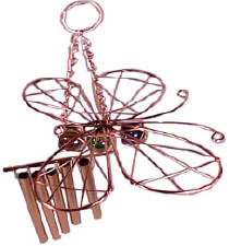 copper wind chimes with marble ornaments