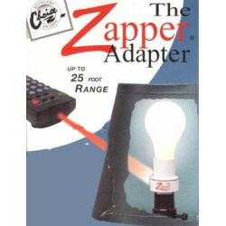 The Zapper Adapter, Zap your lights on or off with any infrared TV remote control. Simply screw the Zapper Adapter into any lamp socket. Install up to a 100 watt light bulb into the the Zapper Adapter and that's it.